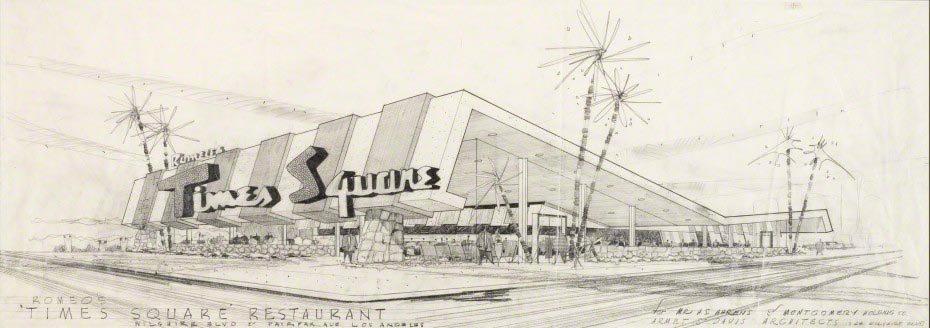 Pencil on paper. Collection of Armet Davis Newlove Architects