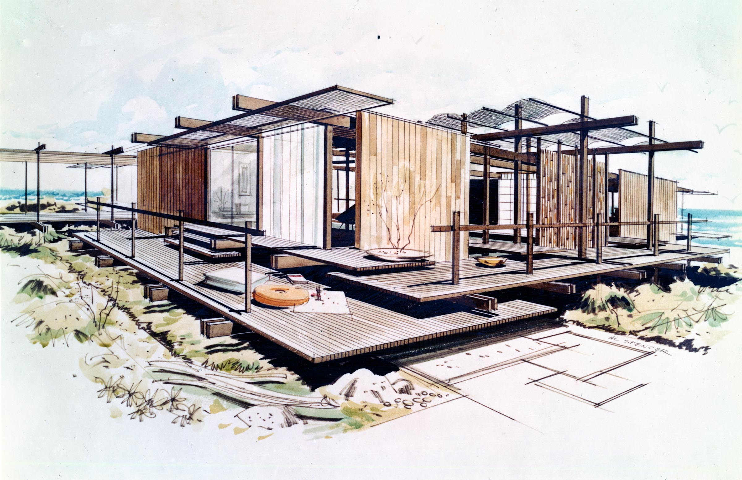 Shoreline House for Orange County Home Show, 1957