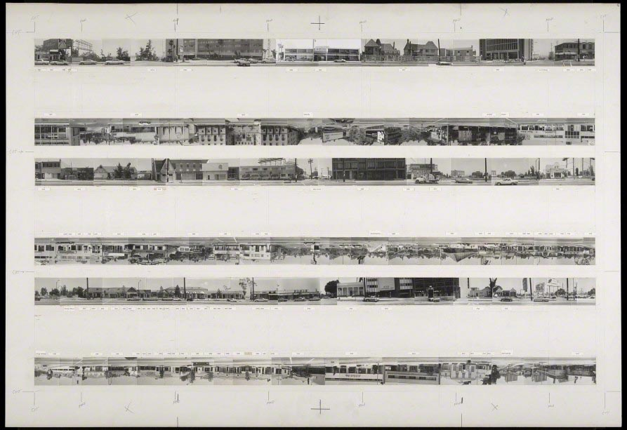 Gelatin silver prints on board. The Getty Research Institute, Los Angeles. © Ed Ruscha